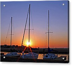 Acrylic Print featuring the photograph Yacht Club Sunrise by Judy Vincent