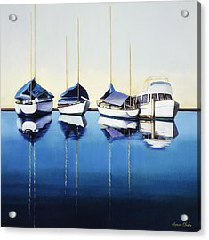Yacht Harbor Acrylic Print by Han Choi - Printscapes