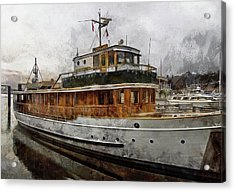 Yacht M V Discovery Acrylic Print