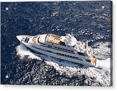 Yacht Not Mine Acrylic Print by John Rowe