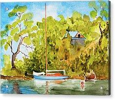 Yacht Weene' In Barnes Bay  Acrylic Print
