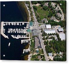 Yacht Works Marina To North Acrylic Print by Bill Lang