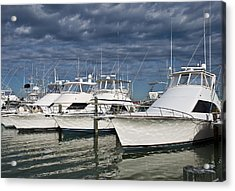 Yachts At The Dock Acrylic Print