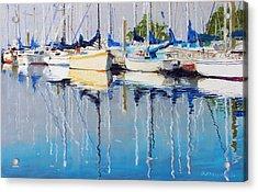 Yachts Acrylic Print