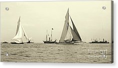 Yachts Valkyrie II And Vigilant Start Americas Cup Race 1893 Acrylic Print by Padre Art