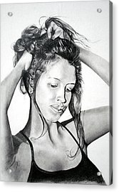 Acrylic Print featuring the drawing Yaha by Mayhem Mediums