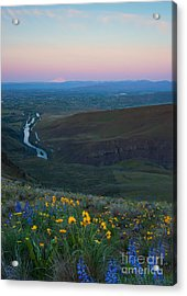 Yakima River Dawn Acrylic Print
