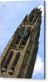 Yale University Cathedral Tower Acrylic Print by DazzleMe Photography