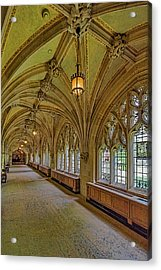 Acrylic Print featuring the photograph Yale University Cloister Hallway II  by Susan Candelario