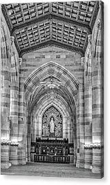 Acrylic Print featuring the photograph Yale University Sterling Memorial Library Bw  by Susan Candelario
