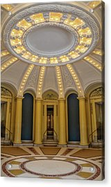 Acrylic Print featuring the photograph Yale University Woolsey Hall by Susan Candelario