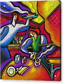 Acrylic Print featuring the painting  Yam Food And Drink by Leon Zernitsky
