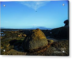 Acrylic Print featuring the photograph Yanakie Rocks by Angela DeFrias