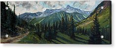 Acrylic Print featuring the painting Yankee Boy Basin by Billie Colson