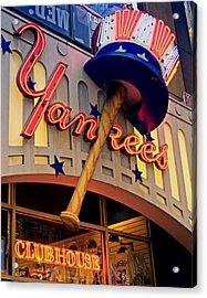 Yankee Clubhouse Acrylic Print by Joann Vitali