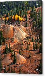 Tailings Acrylic Print by Mike Flynn
