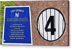 Yankee Legends Number 4 Acrylic Print by David Lee Thompson