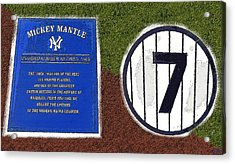 Yankee Legends Number 7 Acrylic Print by David Lee Thompson