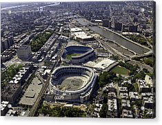 Yankee Stadium Aerial Acrylic Print by Paul Plaine