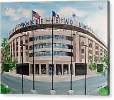 Yankee Stadium Acrylic Print by Paul Cubeta