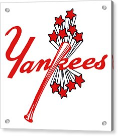 Acrylic Print featuring the digital art Yankees Vintage by Gina Dsgn