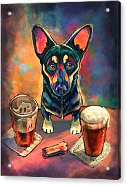 Yappy Hour Acrylic Print by Sean ODaniels
