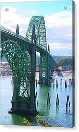 Yaquina Bay Bridge Br-9002 Acrylic Print by Mary Gaines