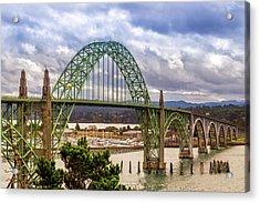 Acrylic Print featuring the photograph Yaquina Bay Bridge by James Eddy