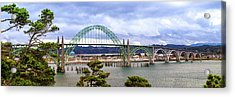 Yaquina Bay Bridge Panorama Acrylic Print