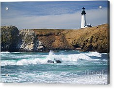 Yaquina Head Lighthouse On The Oregon Coast Acrylic Print