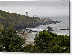 Yaquina Head Lighthouse View Acrylic Print