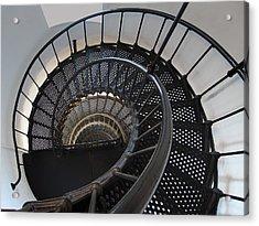 Yaquina Lighthouse Stairway Nautilus - Oregon State Coast Acrylic Print by Daniel Hagerman