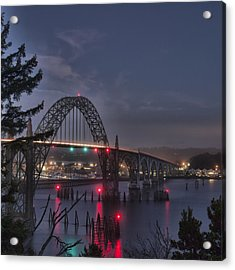Yaquina Night Crossing Acrylic Print