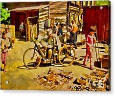 Yard Sale Acrylic Print by Olga Hamilton