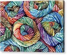 Yarn Acrylic Print by Nadi Spencer