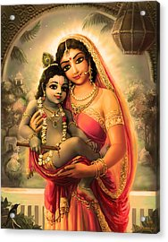 Yashoda And  Krishna 4 Acrylic Print