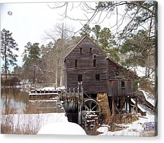 Yates Mill In Winter Acrylic Print