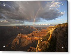 Yavapai Point Rainbow I Acrylic Print by Mike Buchheit