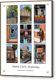 Ybor City Poster Acrylic Print by Stephanie Hayes