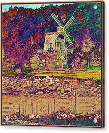 Ye Old Windmill Acrylic Print by Russ Mullen