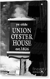 ye olde Union Oyster House Acrylic Print by John Rizzuto