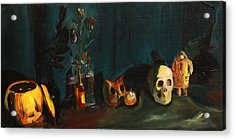 Acrylic Print featuring the painting Yeah Its Halloween by Jane Autry