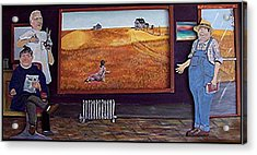 Yeah Shes Been Out There For A While Now Acrylic Print by Richard  Hubal