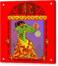 Year Of The Dragon Acrylic Print by LD Gonzalez