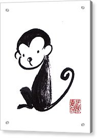 Year Of The Monkey Acrylic Print by Oiyee At Oystudio