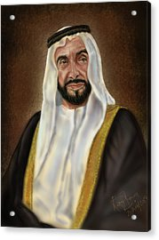 Year Of Zayed Portrait Release 2018 Acrylic Print by Remy Francis