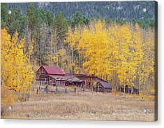 Yearning For The Tranquility Of A Rustic Milieu  Acrylic Print
