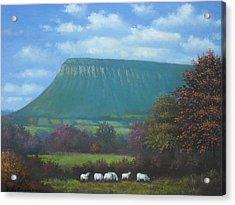 Yeats Country With Benbulben Acrylic Print by Sean Conlon