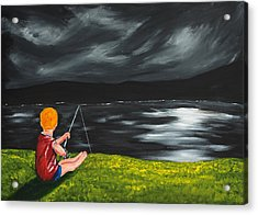 Acrylic Print featuring the painting Yel No Catch A Kelpie Wi That by Scott Wilmot