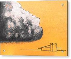 Yellow Alex Dark Cloud Acrylic Print